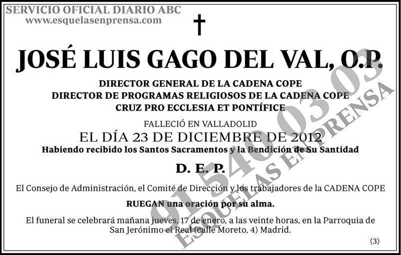 José Luis Gago del Val